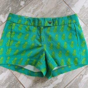 J.Crew Pineapple Shorts 100% Cotton